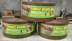 Lot of 3 Master Mark 5in x 40Ft Brown Terrace Board Edging $64.00