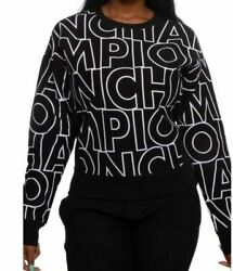Champion Women#x27;s Reverse Weave All Over Print Crew X Large $25.99