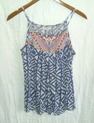 Women#x27;s Babydoll Top Multi Colored Straps Light Small $6.00
