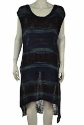 Free People Womens Cover Up Size S Black Blue Purple Sweater Dress Knee Length $29.99