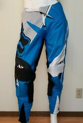 Fox Motocross Racing Armored Pants Sz 32 Blue Padded Leather Knee 360 Mens 01040 $90.98