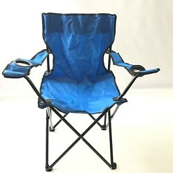 Lot of 2 Outdoor Camp Chair Blue Foldable $34.57
