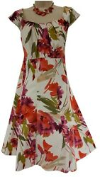 16W 1X SEXY Womens WATERCOLOR FLORAL PRINT DRESS Summer Wedding Party PLUS SIZE $49.99