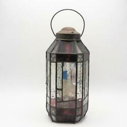 Stained Glass Oil Lantern Hanging Lamp Light Fixture Pendant $94.99