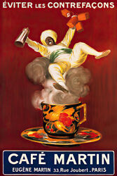 Cafe Martin Cappiello Vintage Advertising Art Wall Room Poster POSTER 24x36 $18.99