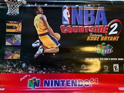 Nintendo 64 hanging in store advertising vinyl with clips VERY RARE 36quot; x 25quot; $895.00
