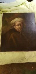 Edgar Kooi After Rembrandt Painting Old Oil Painting Antique on canvas $140.00