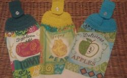 Crochet Top Misc. Hanging Kitchen Dish Towels 3: Fruits $10.00