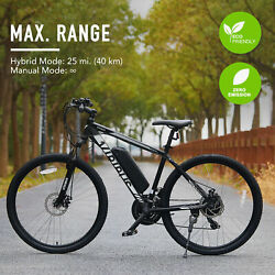Electric Mountain Bike 21 Speed with Dual Disc Brakes 27.5 Inch E Bike Bicycle $609.99