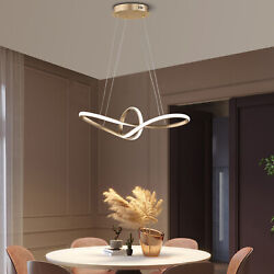 Modern Chandeliers LED Lamps Living Room Circle Ring Dimmable Pendant Light Bed $148.00