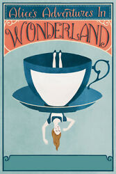Alice In Wonderland Vintage Book Cover Art Wall Room Poster POSTER 24x36 $18.99