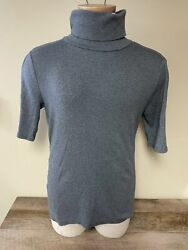 Womens Target Mossimo Gray XXL Short Sleeve Turtleneck Sweater $7.99
