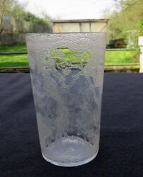 Glass Antique Engraved To Decor D Bird And Of Flower $27.26