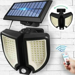 90 LED Adjustable 3D Round Solar Lights Outdoor with Solar Panel Remote Control $26.89