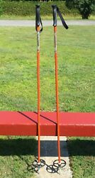 Lovely Vintage BAMBOO Ski POLES 49quot; LONG SNOW SKIS #199 $24.99