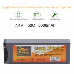 50C 2S 11.1V LiPo RC Battery 5000mAh FOR Traxxas T Plug RC Helicopter Truck USA $19.99