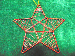 Metal Wire Red Star Christmas Ornament 5quot; #E $2.99