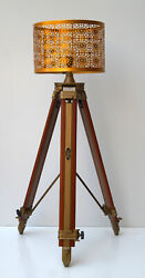 Floor shade lamp tripod stand adjustable home decorative nautical without shade $94.99