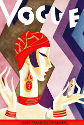 Vogue Cover Fashion Lady New York Summer Art Wall Room Poster POSTER 24x36 $18.99