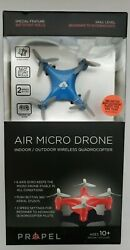 Propel Air Micro Drone 6 Axis Gryo Mini Indoor Outdoor Quadrocopter Blue NEW $19.95