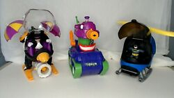 Lot Fisher Price Imaginext DC Friends Joker Tank Penguin and Batman Helicopter $29.99