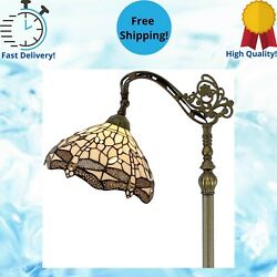Tiffany Style Reading Floor Lamp Lighting Stained Glass Home Decoration Cream $238.10