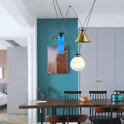 Nordic Simple Living Dining Room Bedroom 3 Head Pulley Small Hanging Lamps 110V $199.02