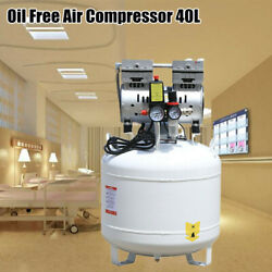 40L Dental Air Compressor Oil Free Silent Air Pump Noiseless Air Compressor 750W $279.02