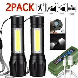 Garberiel 3Modes Zoomable Flashlight Rechargeable USB T6 LED Tactical Torch Lamp $11.98