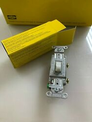 HUBBELL CS115W COMMERCIAL SWITCH WHITE 15A 120 277 VAC 1 POLE LOT OF 40