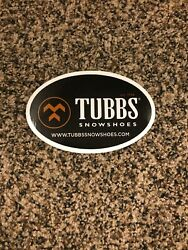"""Tubbs Snowshoes Sticker Decal Approx 5"""" EST 1906 Outdoor Black And White $4.50"""