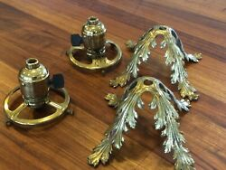 Antique Lamp Parts Acanthus Leaf Chandelier Part Art Nouveau Victorian $89.00