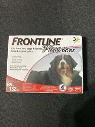 Frontline Plus for Dogs 89 132 lbs red 3 MONTH 3 DOSES $25.90