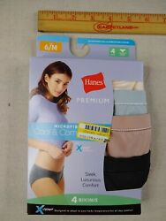 Hanes Pack of 4 Tagless Bikinis Women Medium Multicolor $4.00
