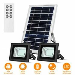 Solar Lights Outdoor Remote Dual 42 LEDs Lights with 7.5quot; X 11.4quot; Light Senso... $87.54