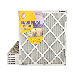 ARM amp; HAMMER Maximum 16000 MERV 11 Air Filters with Carbon for Odor. 6 Pack $77.94