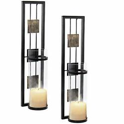 Shelving Solution Wall Sconce Candle Holder Metal Wall Decorations for Living... $44.90