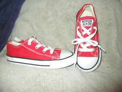 CONVERSE ALL STAR BOYS OR GIRLS RED LOW TOPS SIZE 9 EXCELLENT $19.95