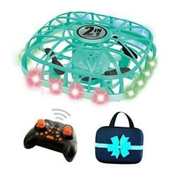 UFO Drone Kids Flying Toys LED Hand Opeared amp; RC Drone 2 Operating Modes Blue $39.29