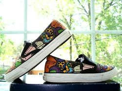 CONVERSE ALL STAR Kids GRAFFITI COMIC CANVAS Athletic SNEAKERS Slip On SHOES 2 $6.99