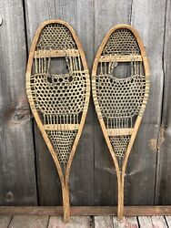 RARE Amazing Antique Indian Native American Hand Crafted KIDS Snowshoes 29x9 $245.00