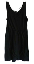 Zeena Outfitters Girls Bathing Cover Casual Dress Size Youth Large Black Cotton $11.96