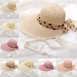 Summer Hats For Beach For Womens Visors Hats Wide Brim Hats TravelFoldable Y $6.11