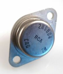 RCA 2N5804 Transistor Silicon NPN Power 170V 10A 150W TO3 Steel Package OMA081A $11.83