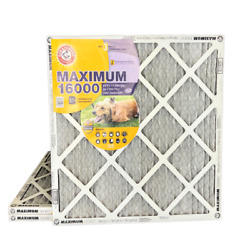 ARM amp; HAMMER Maximum 16000 MERV 11 Air Filters with Carbon for Odor. 3 Pack $44.97