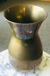 Solid Brass Vase Made in India. 9quot; $25.00