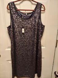 Ladies Black Sequin Dress sz 20 by Talbots