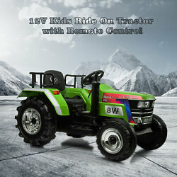 12V Kids Ride On Tractor w Remote Control Electric Tractor Car for age 3 6 Years $125.99