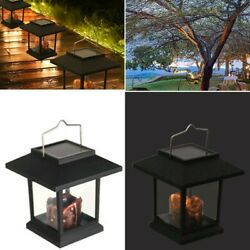 Waterproof LED Solar Powered Hanging Lantern Outdoor Candle Garden Table Lamp C $17.81