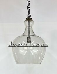 NEW Pottery Barn Flynn Recycled Glass OVERSIZED 17quot; Pendant BRONZE $309.99